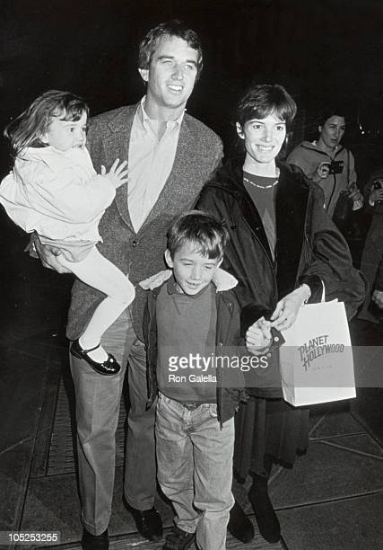 Robert F Kennedy Jr wife Emily children during 'The Addams Family' New York Premiere November 17 1991 at Planet Hollywood in New York City New York...