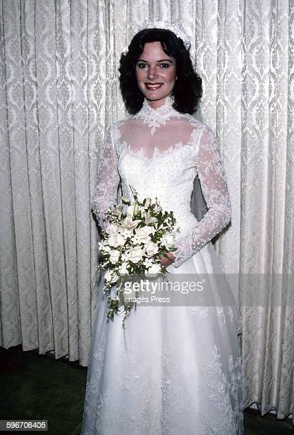 Robert F Kennedy Jr's bride Emily Ruth Black photographed after getting married on April 3 1982 in her hometown of Bloomington Indiana