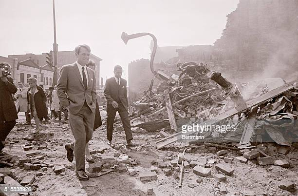 Robert F Kennedy Visits Riot Scene in Washington after assassination of DrMartin Luther King