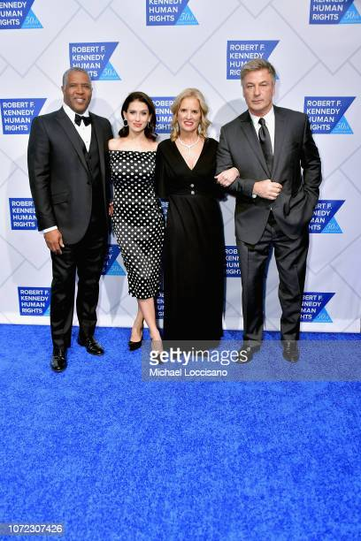 Robert F Smith Hilaria Baldwin Kerry Kennedy and Alec Baldwin attend the 2019 Robert F Kennedy Human Rights Ripple Of Hope Awards on December 12 2018...