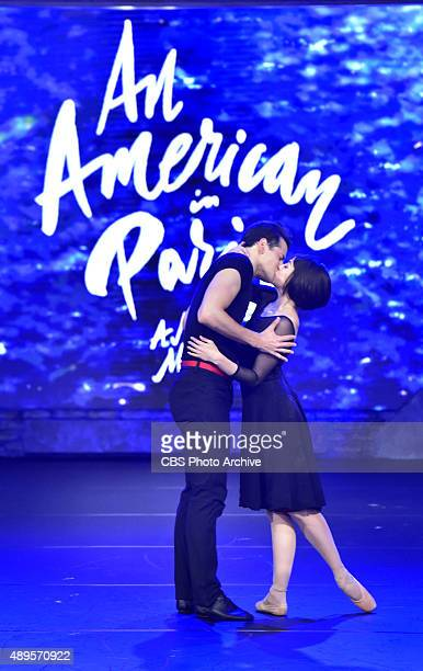 Robert Fairchild and Leanne Cope perform a scene from An American in Paris on The Late Show with Stephen Colbert Friday Sept 18 2015 on the CBS...