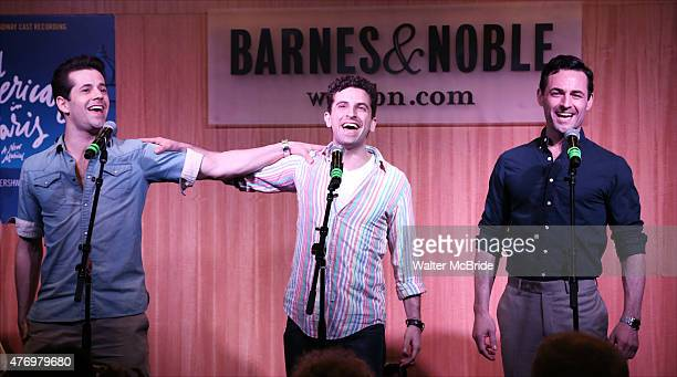 Robert Fairchild Brandon Uranowitz and Max von Essen from the Broadway cast 'An American In Paris' celebrate the musical's new Broadway cast...