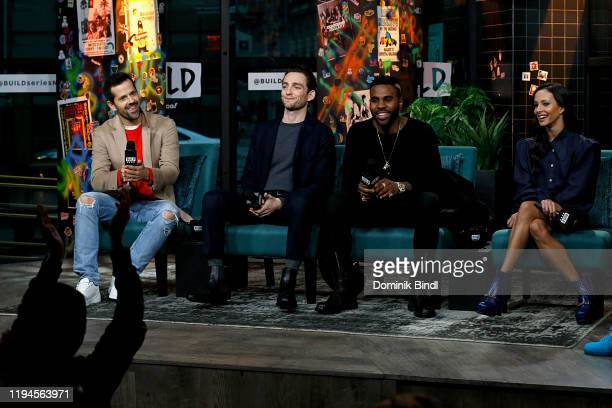 Robert Fairchild Laurie Davidson Jason Derulo and Francesca Hayward attend the Build Series to discuss 'Cats' at Build Studio on December 17 2019 in...