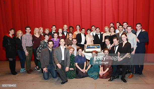 Robert Fairchild LeAnne Cope celebrate alongside Director Christopher Wheeldon with the rest of the cast and crew the 1 year anniversary of An...