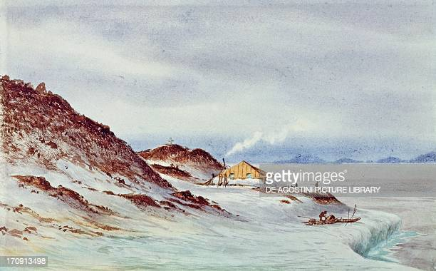 Robert Falcon Scott's expedition Ross Island McMurdo Sound Hut Point base April 7 watercolour on paper by Edward Adrian Wilson Antarctica 20th century