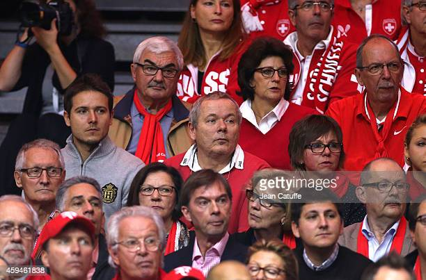 Robert Federer and Lynette Federer parents of Roger below them Jonathan Wawrinka Stan's brother and Stan's parents Wolfram Wawrinka and Isabelle...