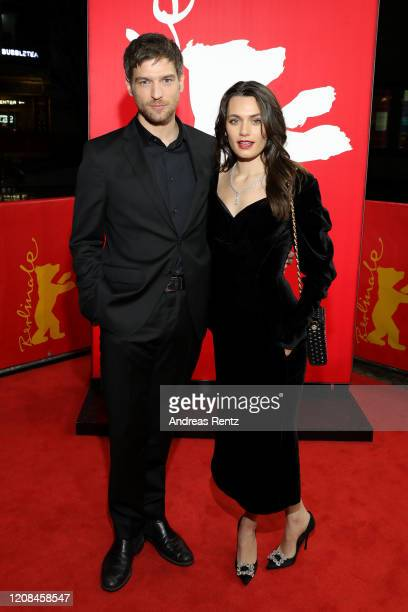 Robert Finster and Ella Rumpf attend the Netflix premiere of Freud during the 70th Berlinale International Film Festival Berlin at Zoo Palast on...