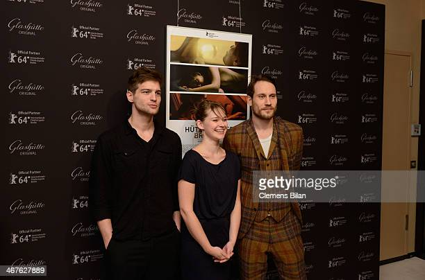 Robert Finster Nadja Bobyleva and Sebastian Zimmler attend the WarmUp at the Glashuette Lounge during 64th Berlinale International Film Festival on...