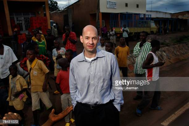 Robert Fogler managing director of Thousand Hill Venture Fund poses on a busy street on April 24 2007 in Kabuga Rwanda Robert Fogler founded the...