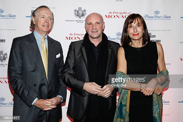 Robert Forbes JeanChristophe Maillot and Hon Maguy Maccario attend Monaco's Consulate General And Tourist Office In NY Celebrate Opening Night Of Les...