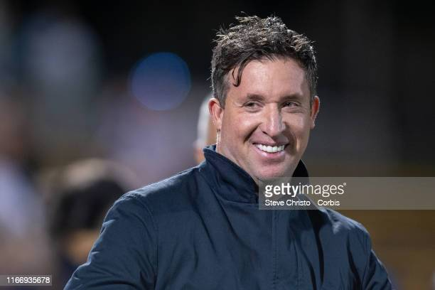 Robert Fowler coach of Brisbane Roar before the FFA Cup Round of 32 match between Sydney FC and Brisbane Roar FC at Leichhardt Oval on August 7 2019...