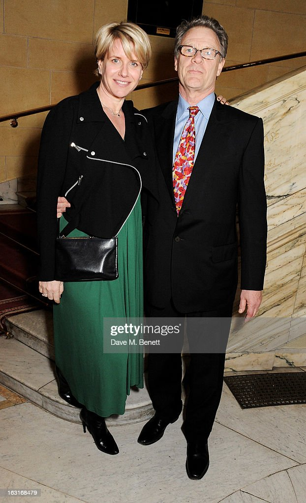 Robert Fox (R) and wife Fiona Golfer attend an after party following the press night performance of 'The Audience' at One Whitehall Place on March 5, 2013 in London, England.