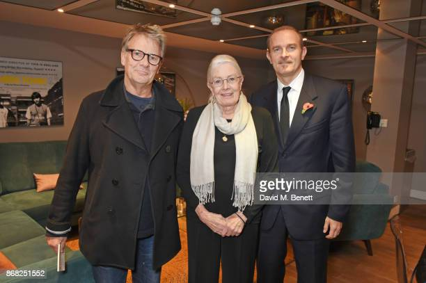 Robert Fox director Vanessa Redgrave and producer Carlo Gabriel Nero attend a special screening of their film Sea Sorrow a documentary about child...