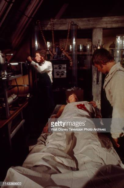Robert Foxworth as Doctor Frankenstein John Karlen appearing in the Walt Disney Television via Getty Images tv series 'The Wide World of Mystery'...