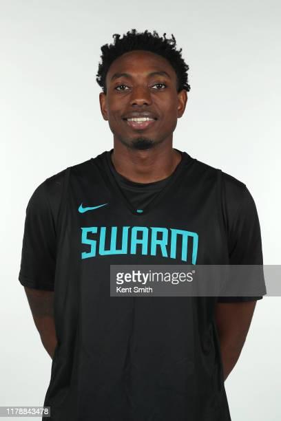 Robert Franks of the Greensboro Swarm poses for a headshot during NBA G League media day at Hayes-Taylor Memorial YMCA in Greensboro, North Carolina....