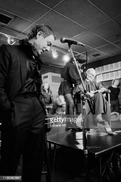 Robert Fripp musician and guitarist for progressive rock band King Crimson London 1981