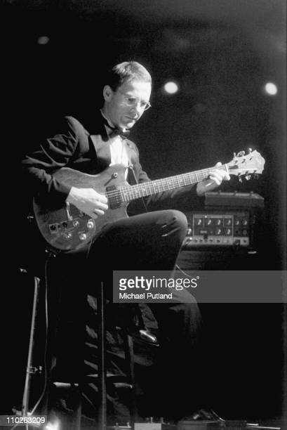 Robert Fripp of King Crimson performs on stage London 1982