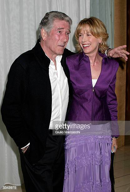 Robert Fuller and wife Jennifer Savidge attend the Paramount Network Television and CBS 200 Episodes of JAG Celebration Party at The Mondrian/Asia de...