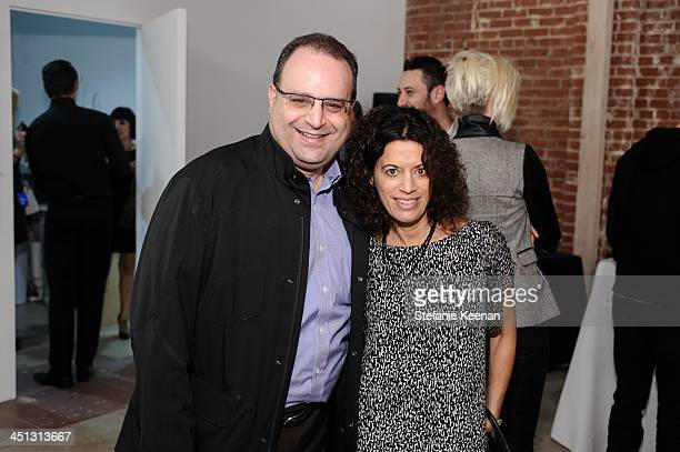 Robert Galstian and Laurie Ziegler attend The Rema Hort Mann Foundation LA Artist Initiative Benefit Auction on November 21, 2013 in Los Angeles,...