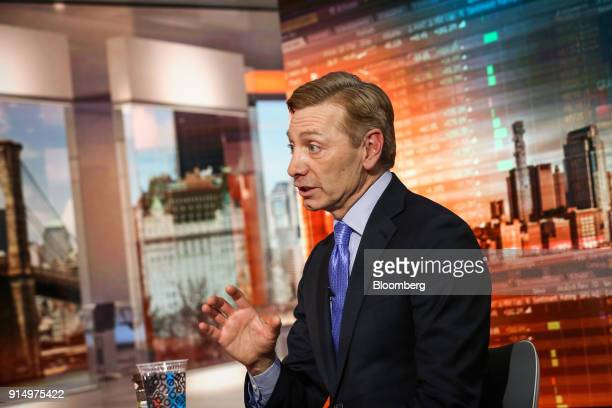 Robert Gamgort, chief executive officer of Keurig Green Mountain Inc., speaks during a Bloomberg Television interview in New York, U.S., on Tuesday,...
