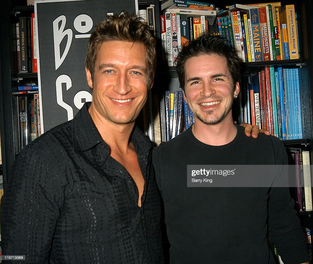 Robert Gant and Hal Sparks during Queer As Folk Cast Members and Producers Sign 'Queer As Folk: The Book' at Book Soup in West Hollywood, California, United States.
