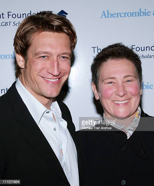 Robert Gant and KD Lang during The Pointer Foundation Host The 1st Annual LGBT Stars of Tomorrow Benefit at DGA in Hollywood California United States