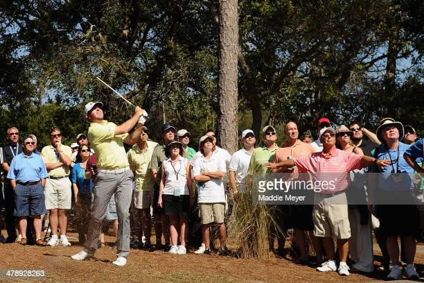 Robert Garrigus plays a shot on the 5th hole during the third round of the Valspar Championship at Innisbrook Resort and Golf Club on March 15, 2014...