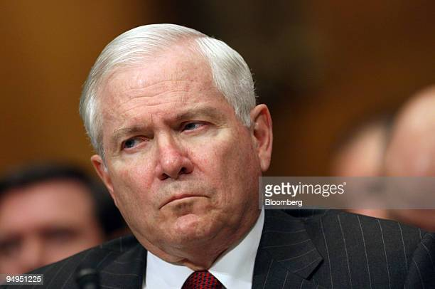 Robert Gates US secretary of defense testifies at a hearing of Senate Appropriations Committee in Washington DC US on Thursday April 30 2009 Gates...
