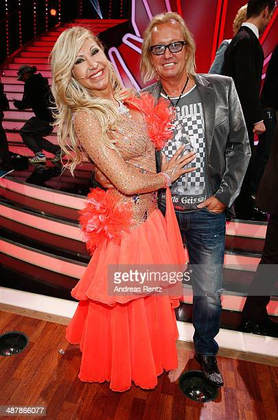 Robert Geiss and wife Carmen Geiss attend the 5th show of 'Let's Dance' on RTL at Coloneum on May 2 2014 in Cologne Germany
