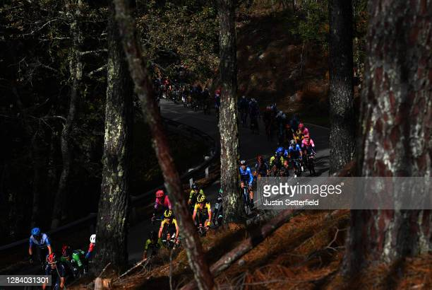 Robert Gesink of The Netherlands and Team Jumbo - Visma / Mikel Nieve Ituralde of Spain and Team Mitchelton - Scott / Kobe Goossens of Belgium and...