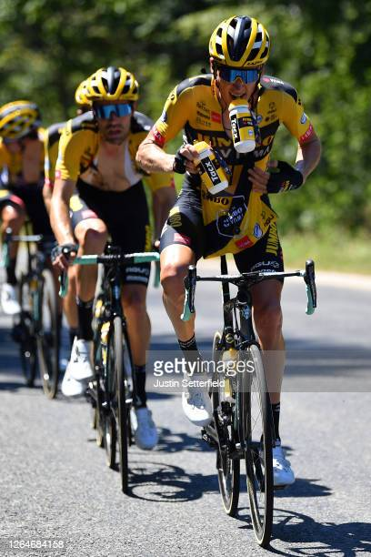 Robert Gesink of The Netherlands and Team Jumbo - Visma / Soigneur / Feed Zone / during the 32nd Tour de L'Ain 2020, Stage 2 a 141km stage from...