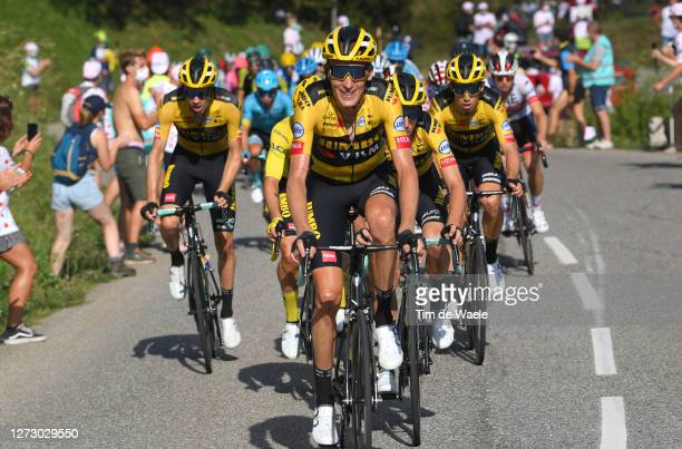 Robert Gesink of The Netherlands and Team Jumbo - Visma / Tom Dumoulin of The Netherlands and Team Jumbo - Visma / Wout Van Aert of Belgium and Team...