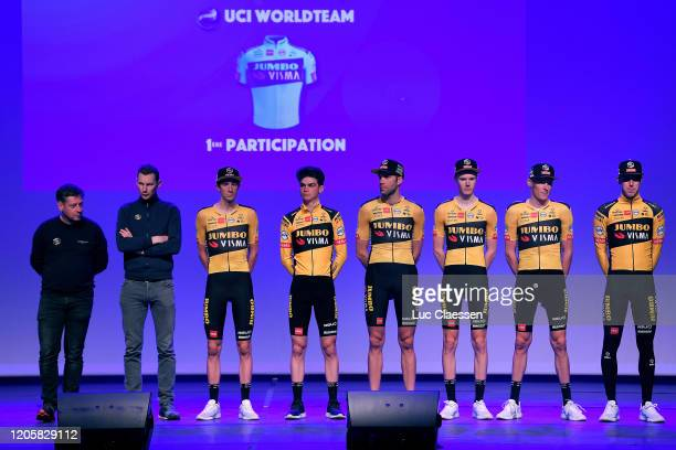 Robert Gesink of The Netherlands and Team Jumbo-Visma / Pascal Eenkhoorn of The Netherlands and Team Jumbo-Visma / Maarten Wynants of Belgium and...