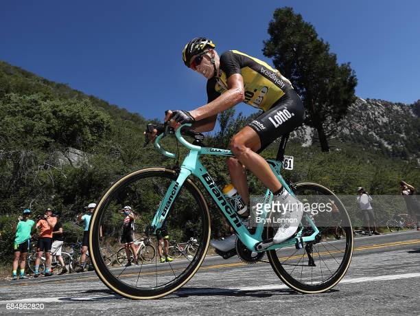 Robert Gesink of The Netherlands and Team Lotto NLJumbo in action on stage five of the AMGEN Tour of California from Ontario to Mt Baldy on May 18...