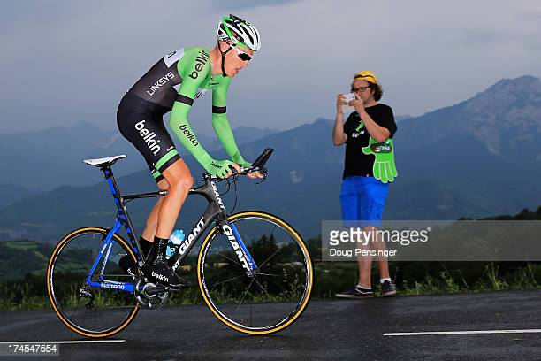 Robert Gesink of the Netherlands riding for Belkin cometes during stage seventeen of the 2013 Tour de France, a 32KM Individual Time Trial from...