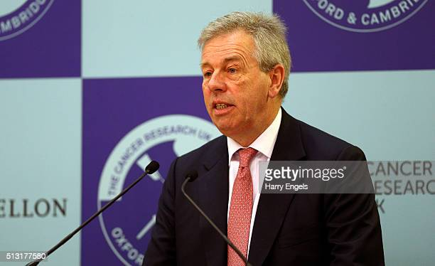 Robert Gillespie Chairman of The Boat Race Company addresses the media during The 2016 Cancer Research UK Boat Races Crew Announcement at Central...