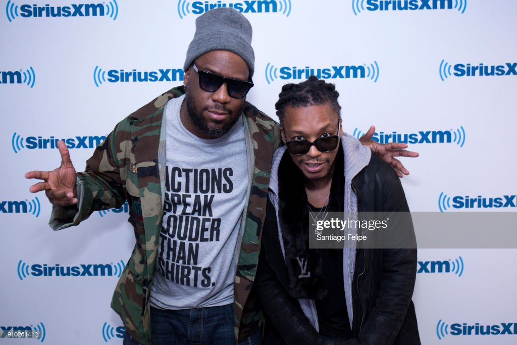 Robert Glasper and Lupe Fiasco visit SiriusXM Studios on January 25, 2018 in New York City.