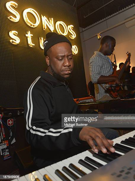 Robert Glasper of the Robert Glasper Experiment attends Play A Visual Music Experience at Sonos Studio on November 13 2013 in Los Angeles California