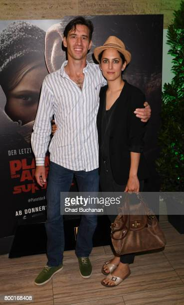 Robert Glatzeder and Damineh Hojat attend the 'Planet der Affen' Special Screening in Berlin at Astor Film Lounge on June 23 2017 in Berlin Germany