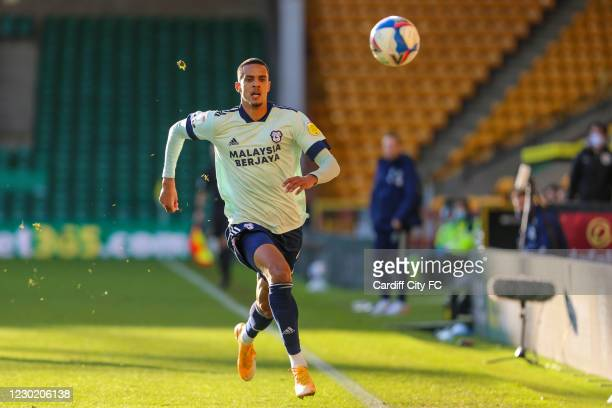 Robert Glatzel of Cardiff City FC during the Sky Bet Championship match between Norwich City and Cardiff City at Carrow Road on December 19, 2020 in...