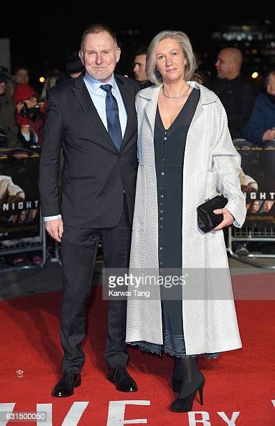Robert Glenister and Celia de Wolff attend the European Film Premiere of Live By Night at The BFI Southbank on January 11 2017 in London United...