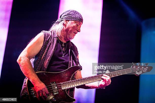 Robert Glover of the English rock band Deep Purple pictured on stage as they perform live at Mediolanum Forum Assago in Milan.