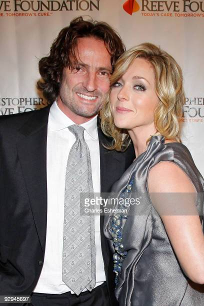 """Robert Godley and actress Jane Krakowski attends the Christopher & Dana Reeve Foundation's """"A Magical Evening"""" Gala at the Marriot Marquis on..."""