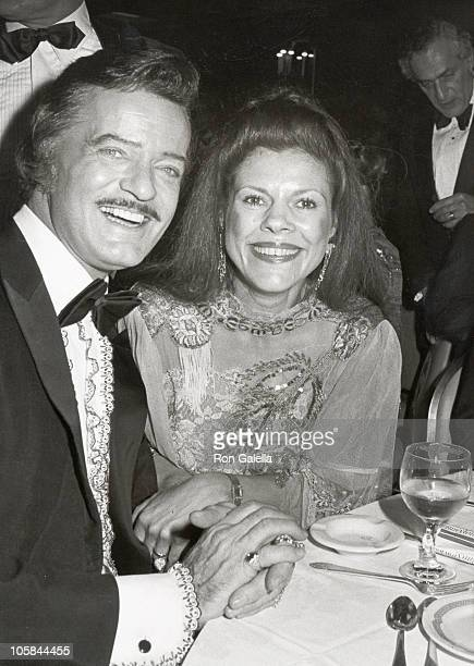 Robert Goulet and Vera Novak during 36th Annual Tony Awards Party at Waldorf Astoria Hotel in New York City New York United States