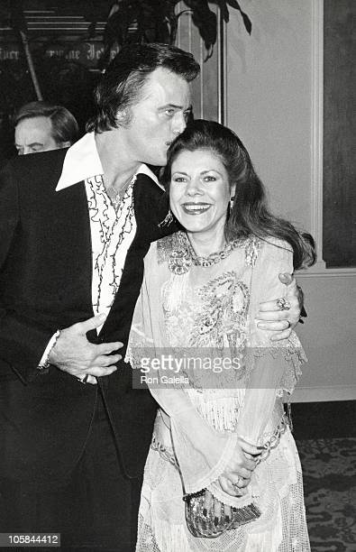 Robert Goulet and Vera Novak during 40th Annual Golden Globe Awards at Beverly Hilton Hotel in Beverly Hills CA United States