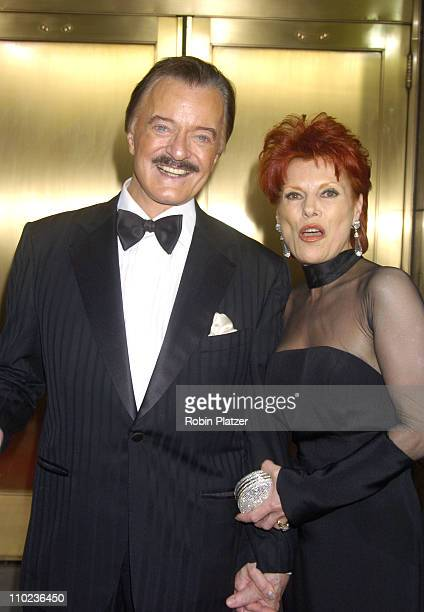 Robert Goulet and wife Vera Novak during 59th Annual Tony Awards Outside Arrivals at Radio City Music Hall in New York City New York United States
