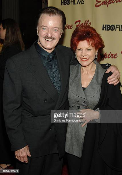 Robert Goulet and wife Vera Novak during Empire Falls HBO Films New York Premiere Arrivals at Metropolitan Museum of Art in New York City New York...