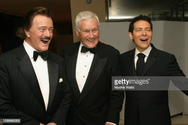 Robert Goulet Orson Bean and Michael Feinstein during Benefit for the Metropolitan Opera Guild at Avery Fisher Hall Lincoln Center in New York New...