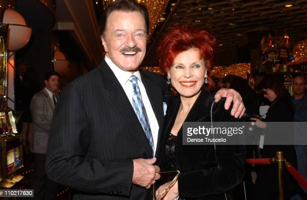 Robert Gouolet and Vera Goulet during Barry Manilow's Opening Night of His New Show Music and Passion Red Carpet Arrivals at The Las Vegas Hilton in...