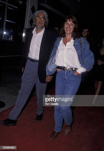 Robert Graham and Anjelica Huston during Premiere of 'The Playboys' at Mann's Criterion Theater in Santa Monica California United States